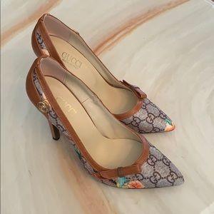 Floral heels sz.38